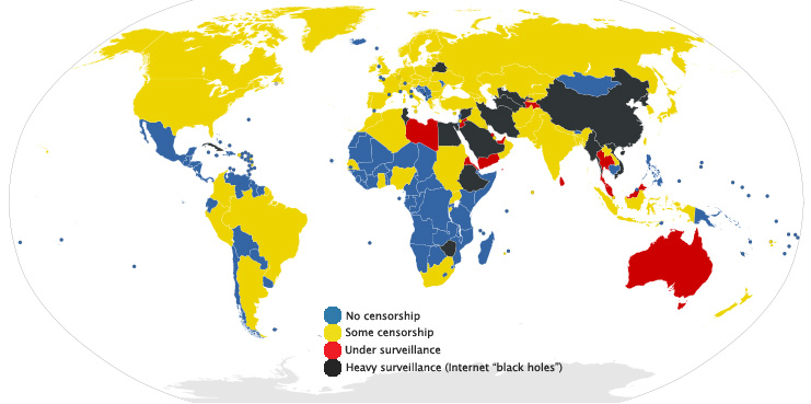 Internet Censorship Map