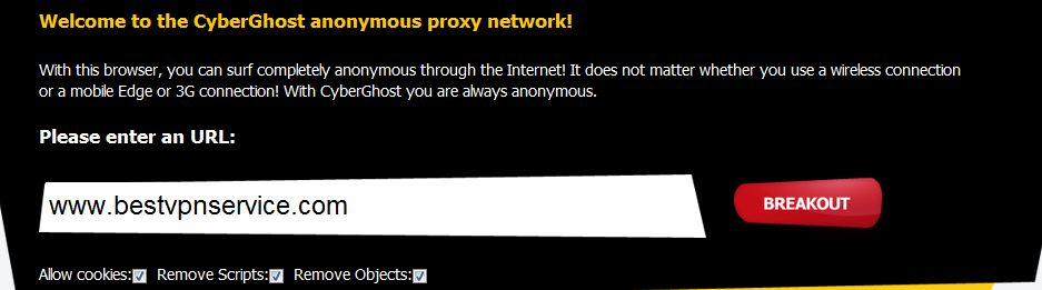 For the announcement of their newly launched cyberghost proxy service