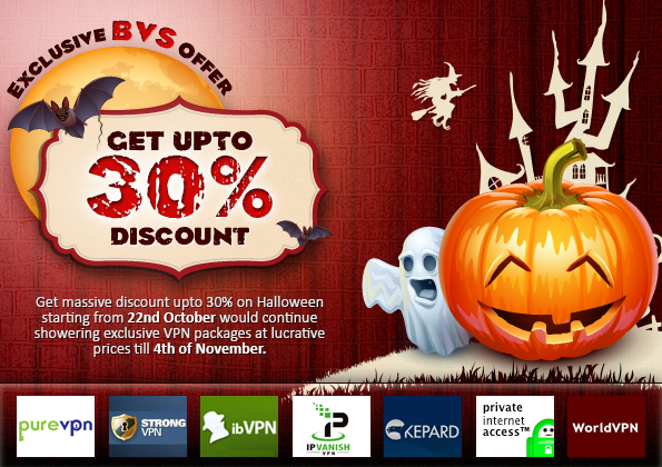 BestVPNService Halloween Offer