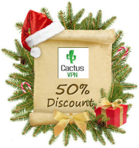 Cactus VPN Christmas & New Year Offer