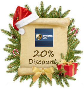 Strong VPN Christmas & New Year Promotion