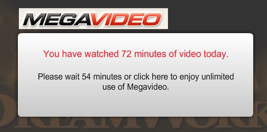 megavideo time limit