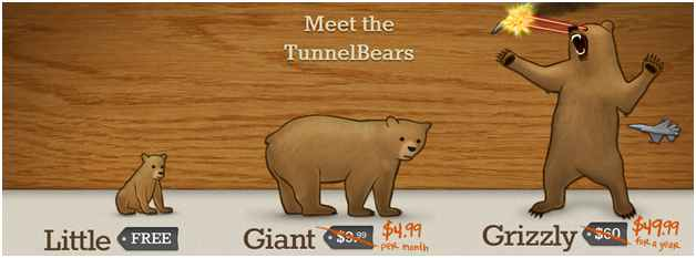tunnelbear subscription packages
