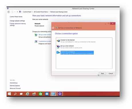 how to setup vpn on windows 10 step 2