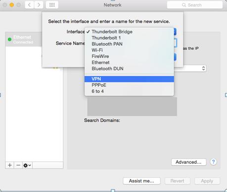 mac network dhcp vpn