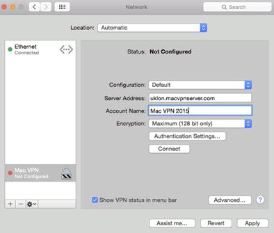 mac vpn configuration