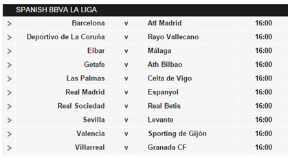 How to watch the spanish la liga online - Spain league table and fixtures ...