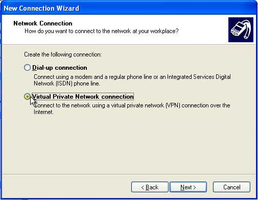 VPN Setup Windows XP