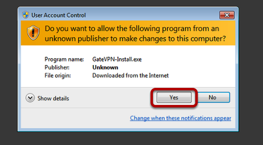 VPN Connection Windows