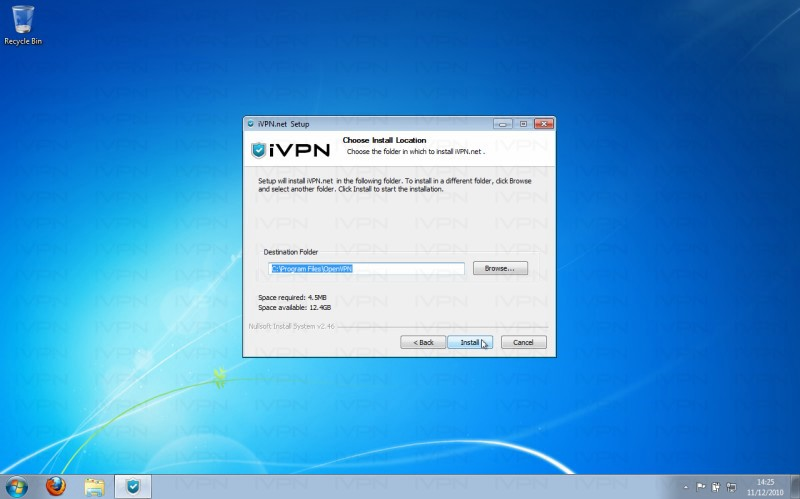 iVPN Setup Windows7