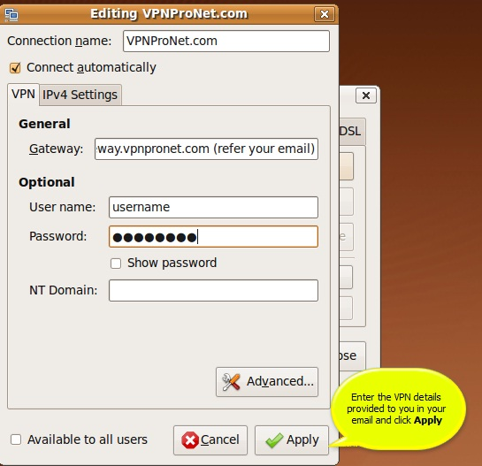 Enable IP Forwarding